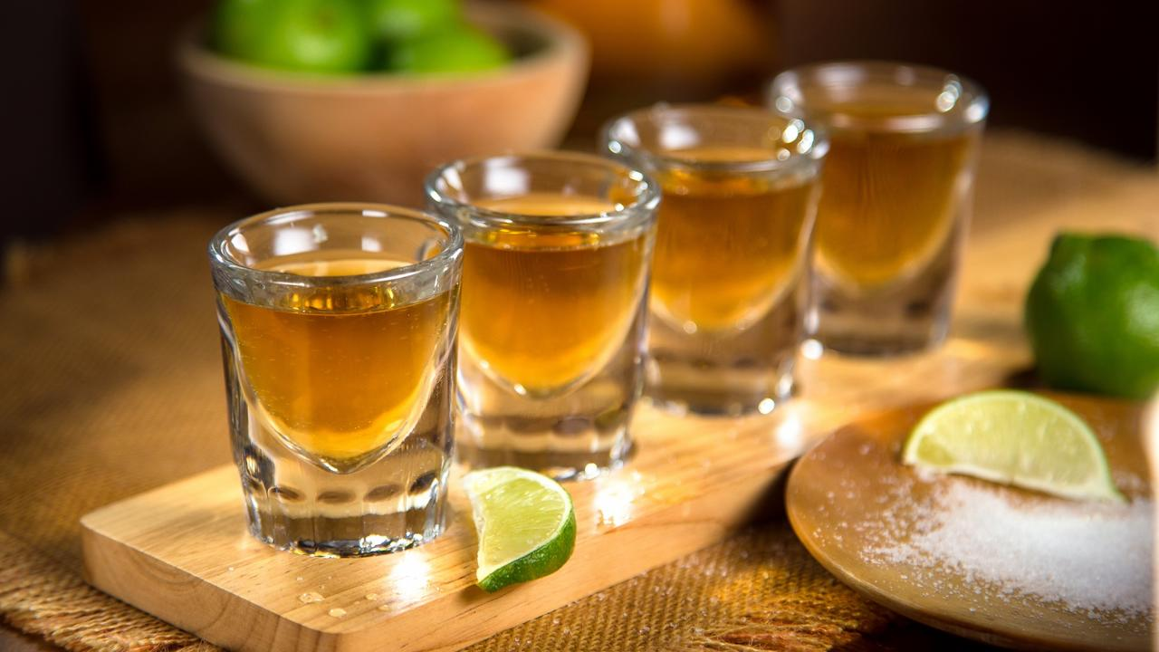 Tequila shots lime