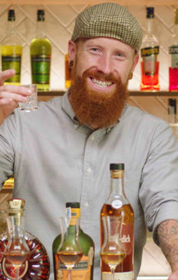 Gavin Wrigley, instructor of the bartending course
