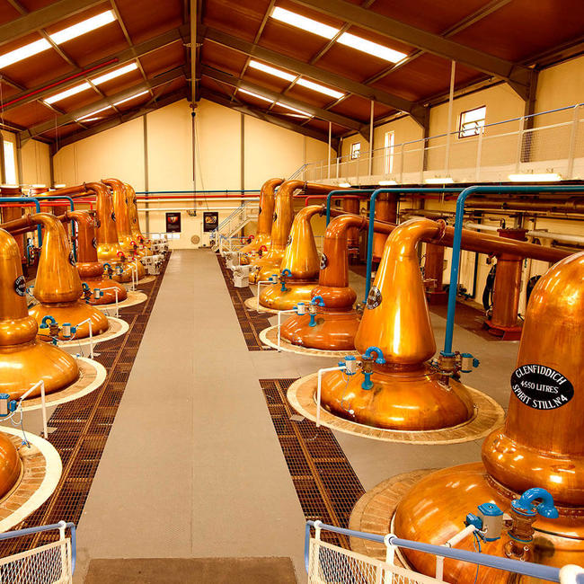 Inside Glenfiddich distillery