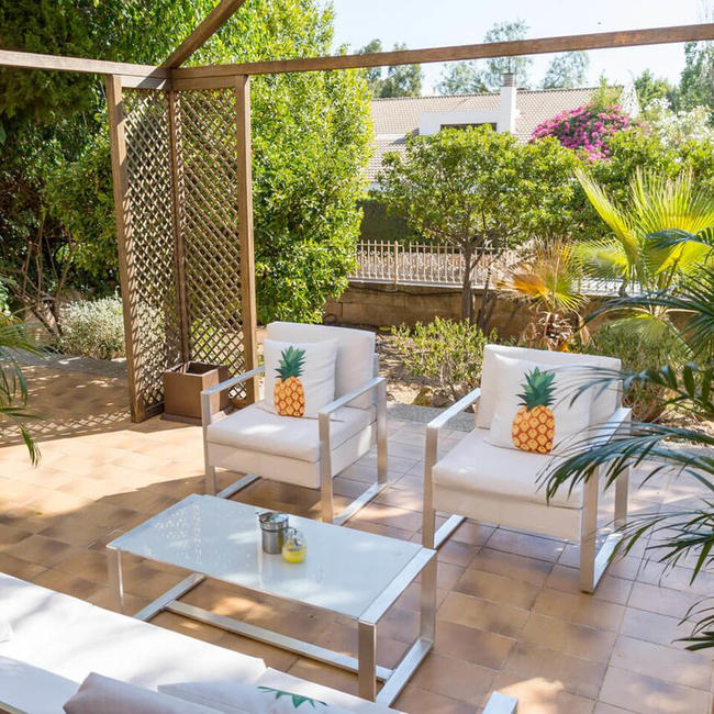 Mallorca accommodation, gazebo in terrace